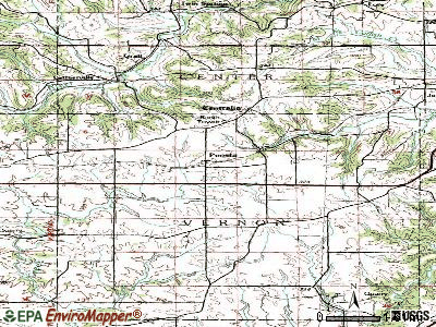Peosta topographic map