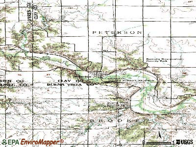 Peterson topographic map