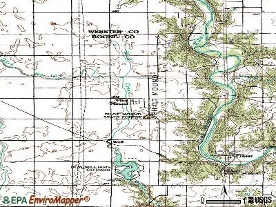 Pilot Mound topographic map