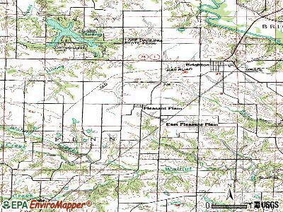 Pleasant Plain topographic map