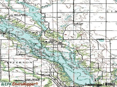 Polk City topographic map