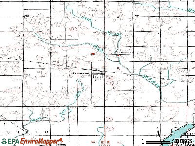 Pomeroy topographic map