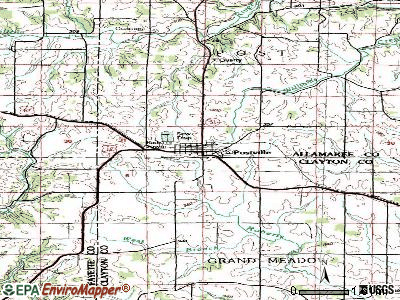 Postville topographic map