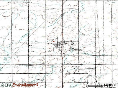Primghar topographic map