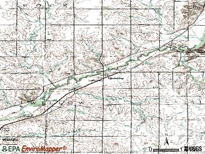 Quimby topographic map