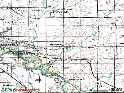 Raymond topographic map