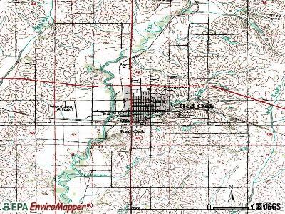 Red Oak topographic map