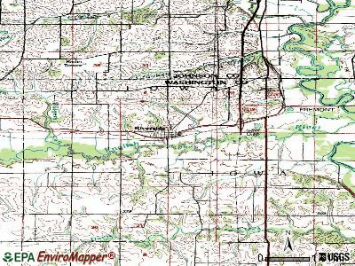 Riverside topographic map