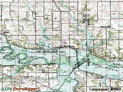 Runnells topographic map