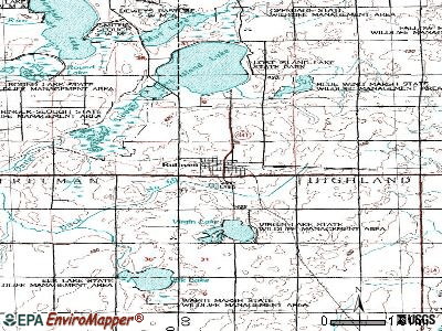 Ruthven topographic map