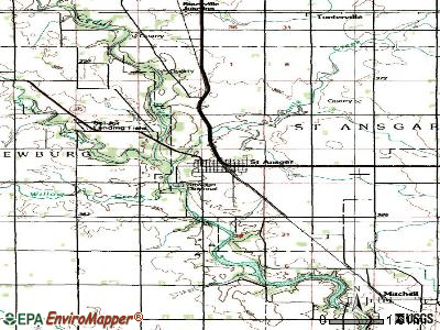 St. Ansgar topographic map