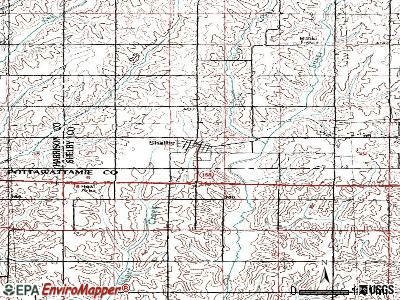 Shannon City topographic map