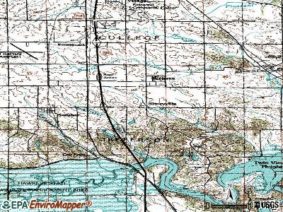 Shueyville topographic map