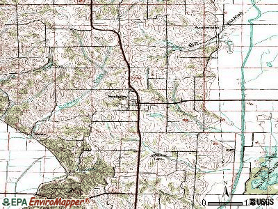 Sigourney topographic map