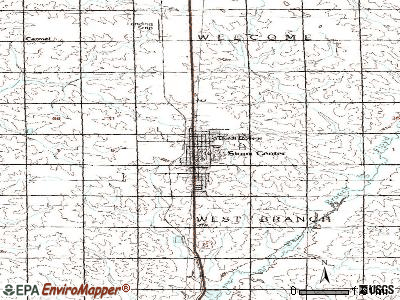 Sioux Center topographic map