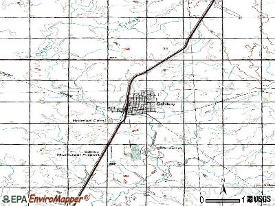Sioux Rapids topographic map