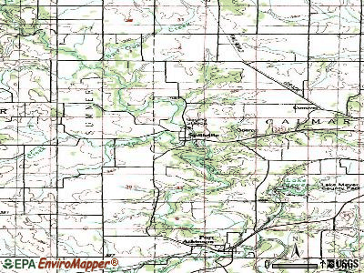 Spillville topographic map
