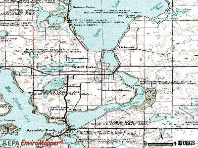 Spirit Lake topographic map