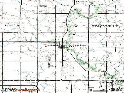 Stacyville topographic map