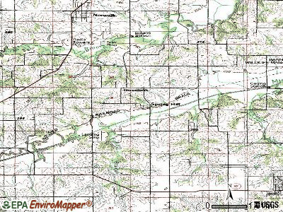 Stanhope topographic map