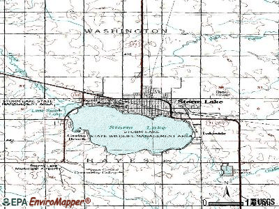 Storm Lake topographic map