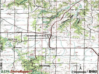 Strawberry Point topographic map