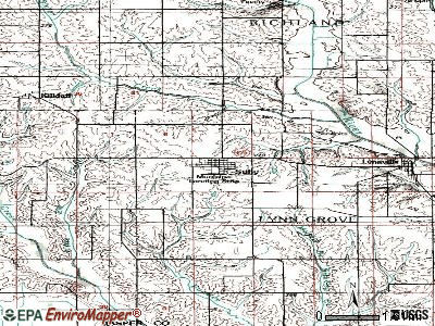 Sully topographic map