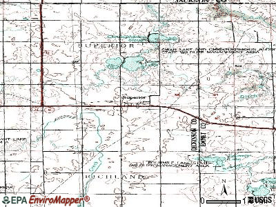Tama topographic map