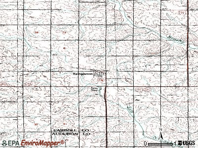 Templeton topographic map
