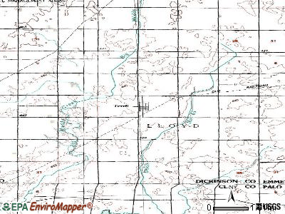 Terril topographic map
