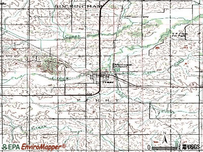 Traer topographic map