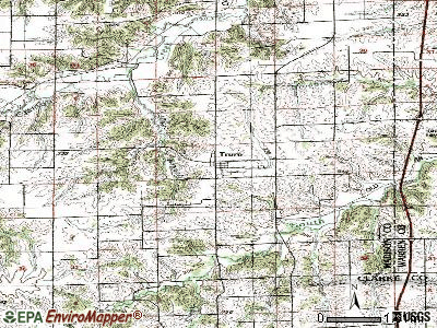 Treynor topographic map