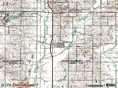 Villisca topographic map