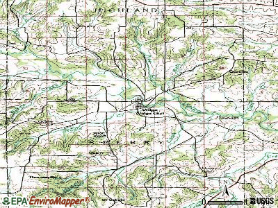 Volga topographic map