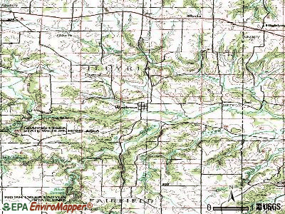 Wadena topographic map