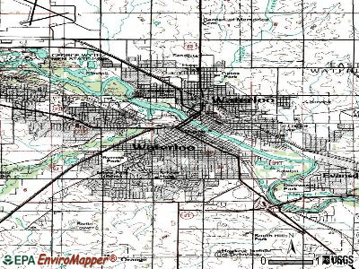 Waterloo topographic map
