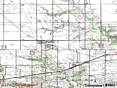 Waukee topographic map