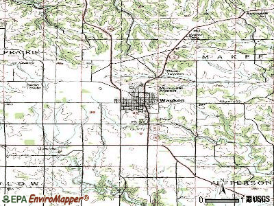 Waukon topographic map