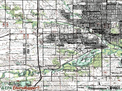 West Des Moines topographic map
