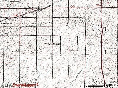 Westphalia topographic map