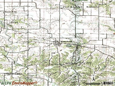 West Point topographic map