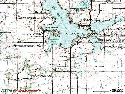 Westside topographic map