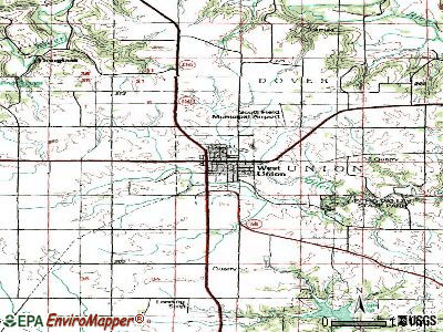 West Union topographic map