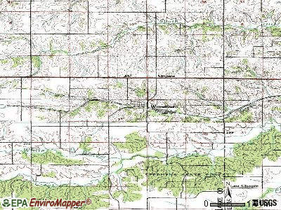 Woodburn topographic map