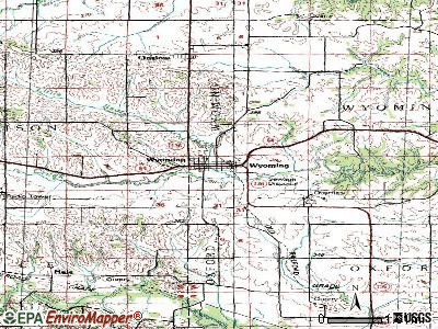 Wyoming topographic map