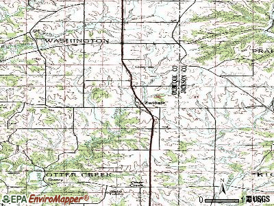 Zwingle topographic map