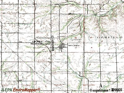 Alta Vista topographic map