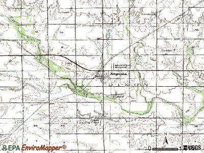 Argonia topographic map