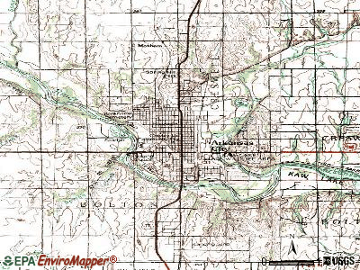 Arkansas City topographic map