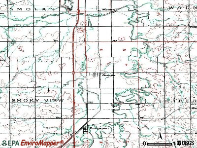 Assaria topographic map